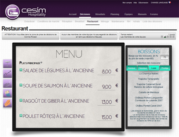 Cesim Hospitality Restaurant