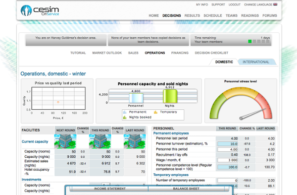 Cesim OnService - Operations