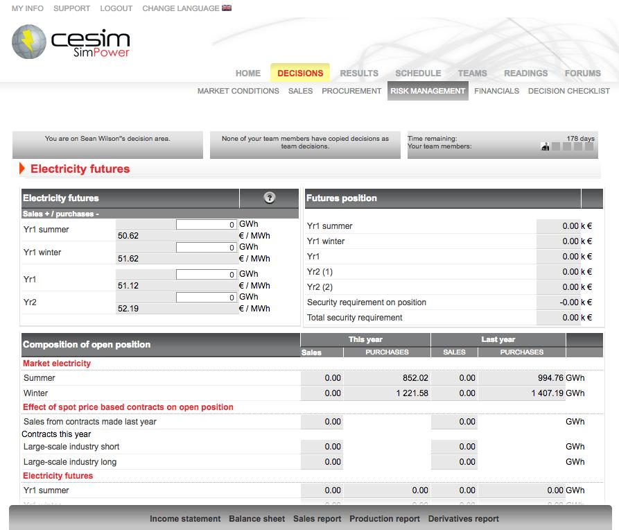 Cesim SimPower Electric Utilities Management Simulation Game