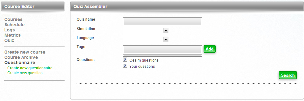 Cesim Business Simulations Quiz Assembler