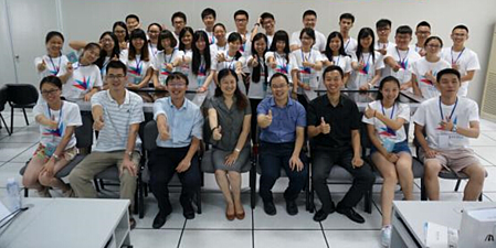 Professor Li from Shenzhen University with students
