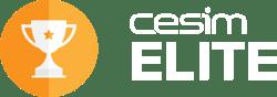 Cesim Elite logo white characters