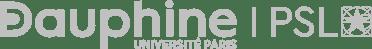 Dauphine logo horizontal light gray