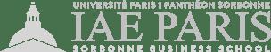 IAE Paris logo horizontal light gray