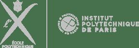 Institute Polytechnique de Paris logo horizontal light gray