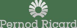 Pernod Ricard logo horizontal light gray