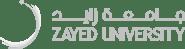 Zayed University logo horizontal light gray