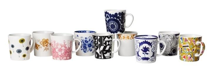 Arabia Finland 100 mugs
