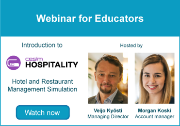 Webinar for Educators - Cesim Hospitality