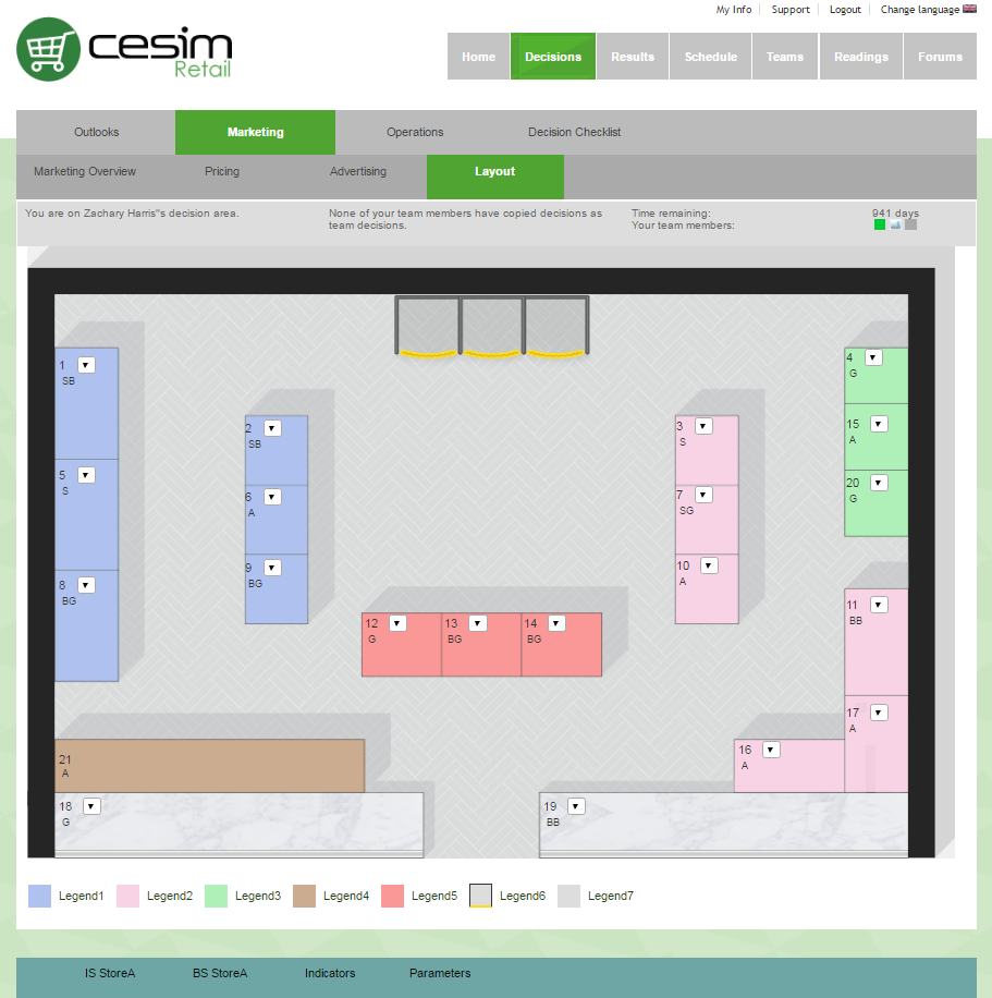 Cesim Retail Store Layout